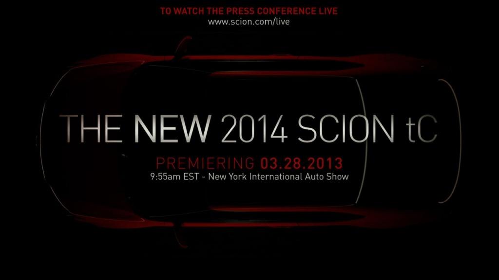 2014 Scion TC to debut in New York Auto Show