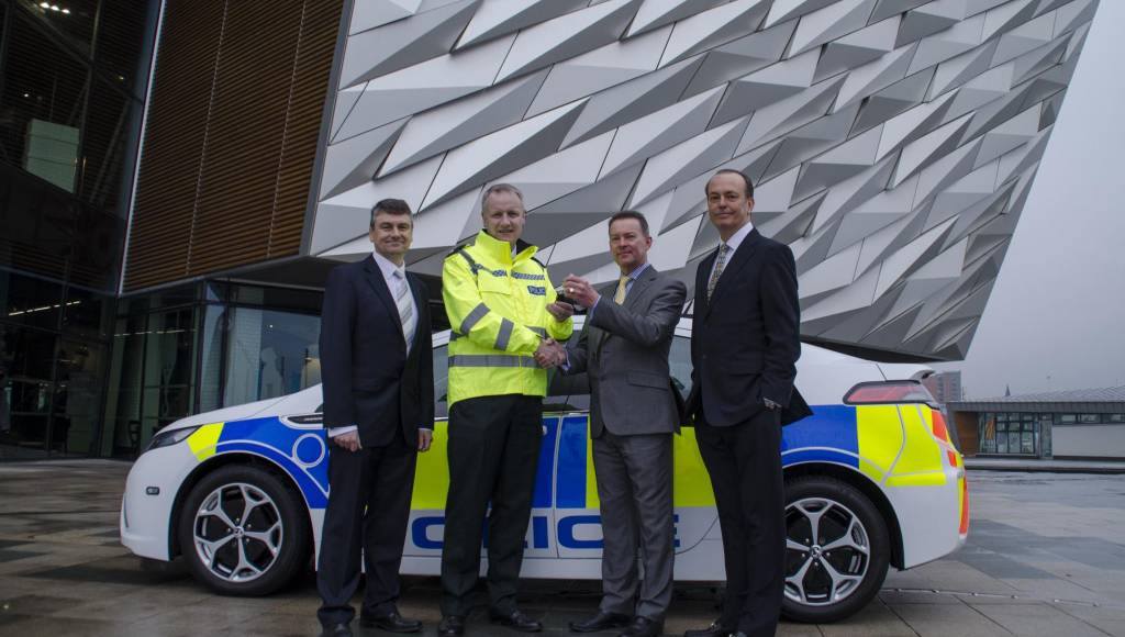 Vauxhall Ampera, on-duty for Northern Ireland Police