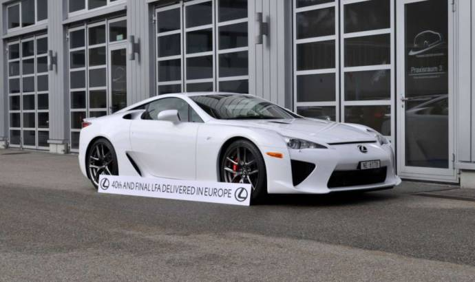 Lexus LFA - final supercar delivered in Europe