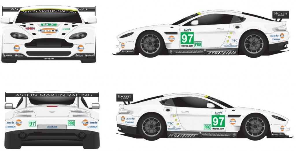 Aston Martin needs some help in designing the new Gulf-livery for 24 Hours LeMans