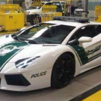 Lamborghini Aventador dressed in Dubai Police uniform