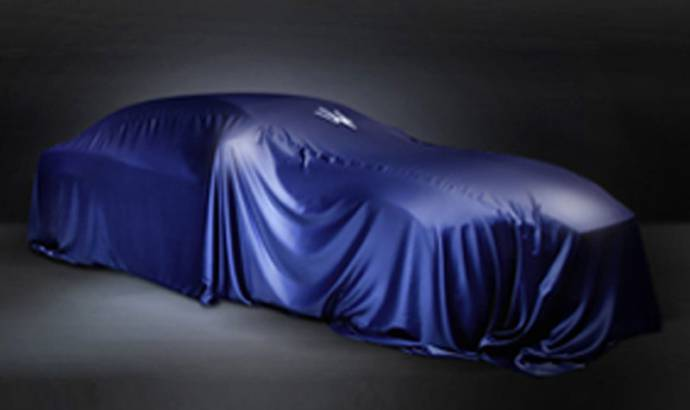 Maserati teases a new model for Shanghai: Ghibli sedan rumored