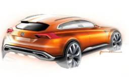 Volkswagen CrossBlue Coupe Concept will debut in Shanghai
