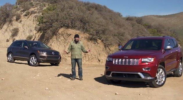 Video: 2014 Jeep Grand Cherokee vs VW Touareg