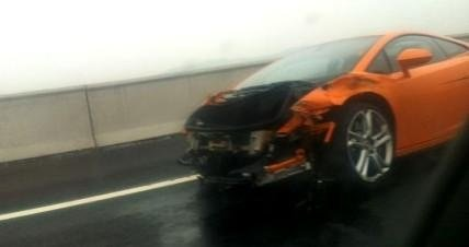 2013 Lamborghini Gallardo destroyed by Chinese journalist