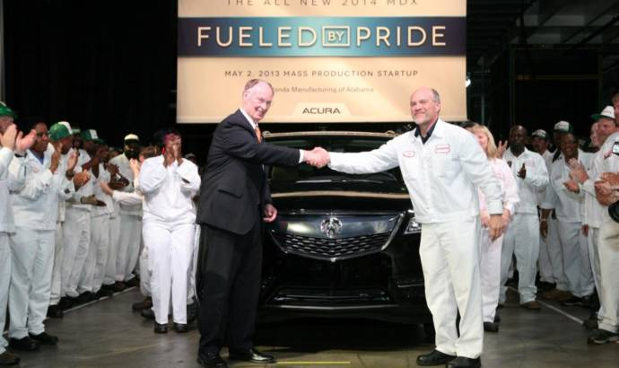 2014 Acura MDX production started in Alabama