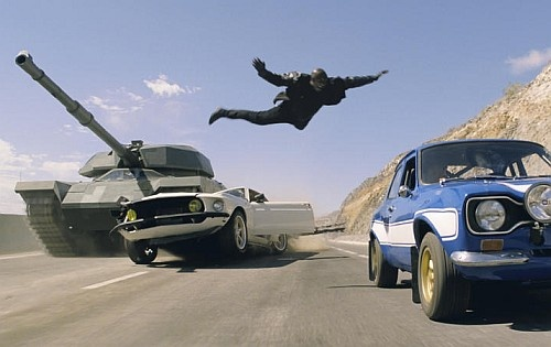 300 cars and 2 real tanks were used in new Fast and Furious 6