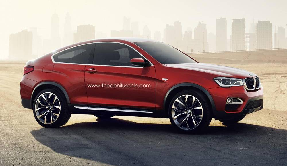 BMW X4 Coupe rendered by Theophilus Chin