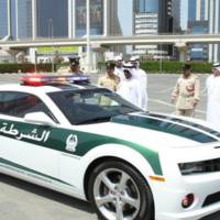 Chevrolet Camaro SS dressed in Dubai Police uniform