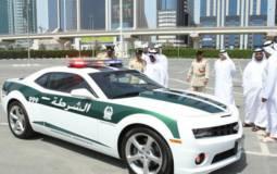 Chevrolet Camaro SS dressed in Dubai Police uniform