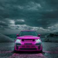 Hamann Range Rover dressed in pink