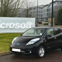 Microsoft goes green with Nissan Leaf