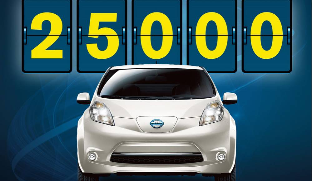 Nissan Leaf reaches 25.000 sales in the US