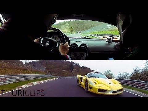 VIDEO: Ferrari Enzo ZXX and Maserati MC12 Corsa are fighting on Nurburgring