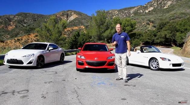 Video: Toyota GT86 vs Mazda RX-8 vs Honda S2000