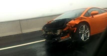 2013 Lamborghini Gallardo destroyed by Chinese journalist