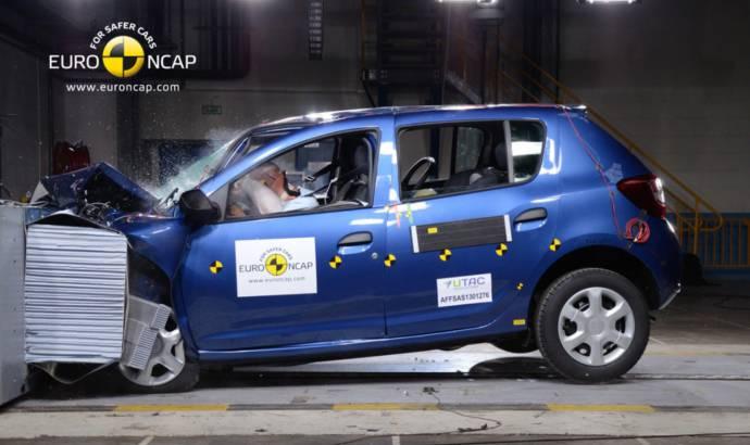 Dacia Sandero, awarded 4 stars at EuroNCAP