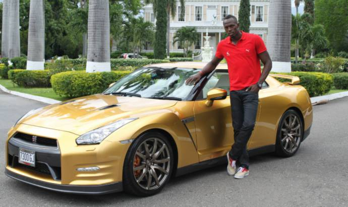 Nissan GT-R Bolt Gold delivered to Usain Bolt