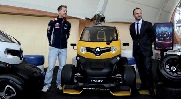 Video: Sebastian Vettel drives the new Renault Zoe and Twizy Sport F1
