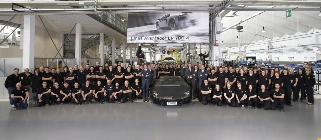 Lamborghini produced its 2000 Aventador