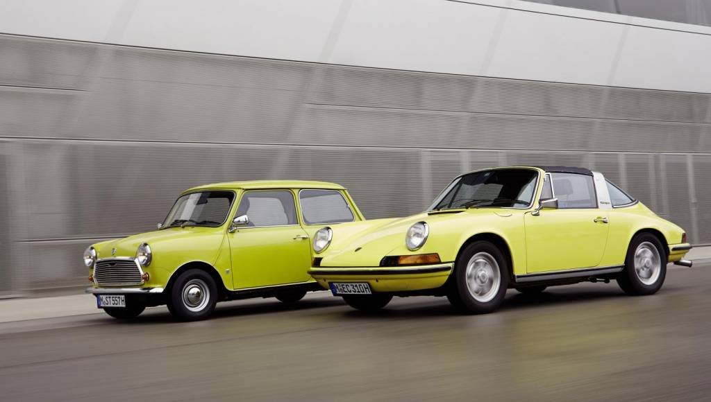 Mini wishes Happy Birthday to Porsche 911