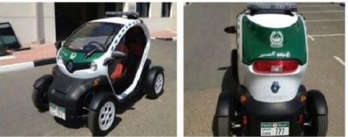 Renault Twizy is the newest member of the Dubai Police