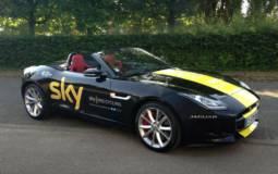 Chris Froome, Le Tour de France winner receives a special Jaguar F-Type