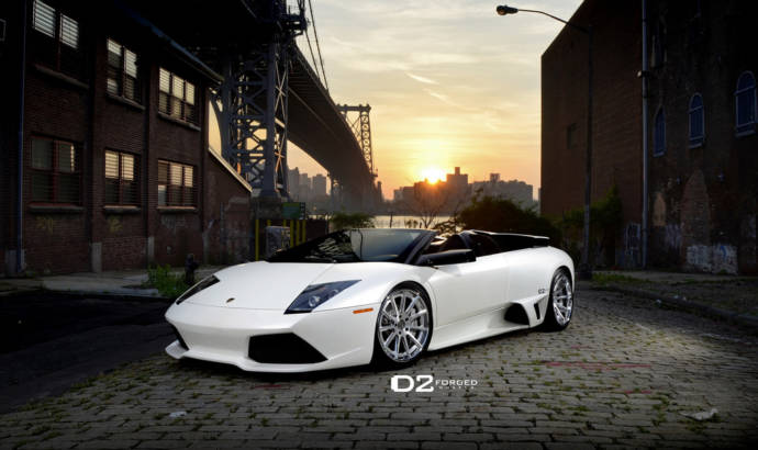 Custom Lamborghini Murcielago show off in Times Square