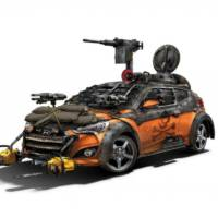Hyundai Veloster Zombie Survival Machine - the ultimate car for gamers unveiled at Comic-Con