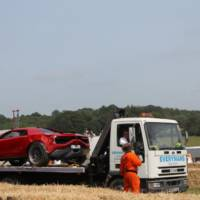 Italdesign Giugiaro Parcour Concept involved in a crash at Goodwood
