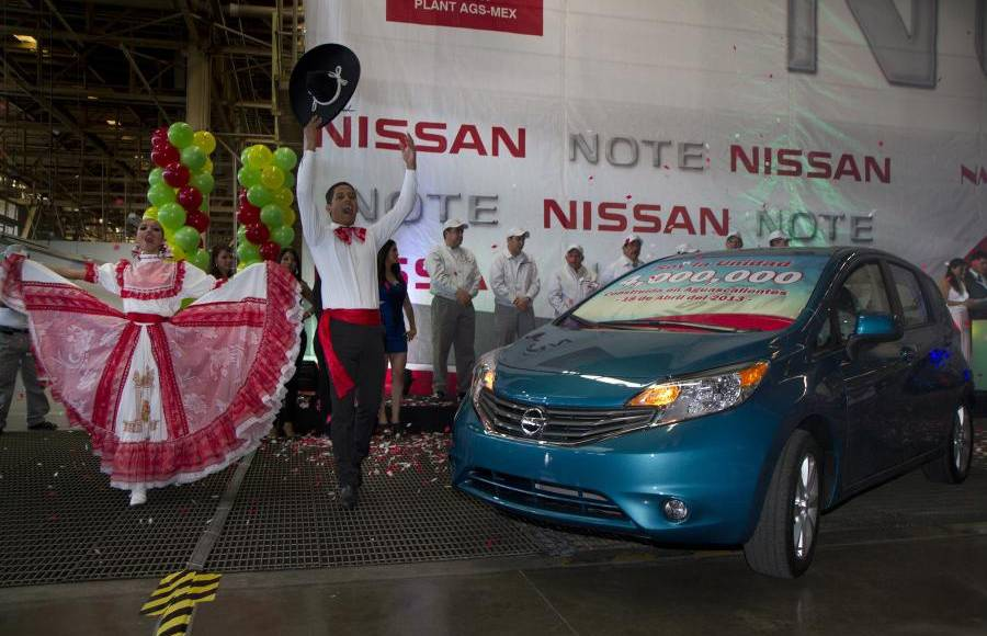 Nissan mexican plant reaches two milestones
