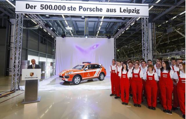 Porsche Cayenne reaches 500.000 units in Leipzig