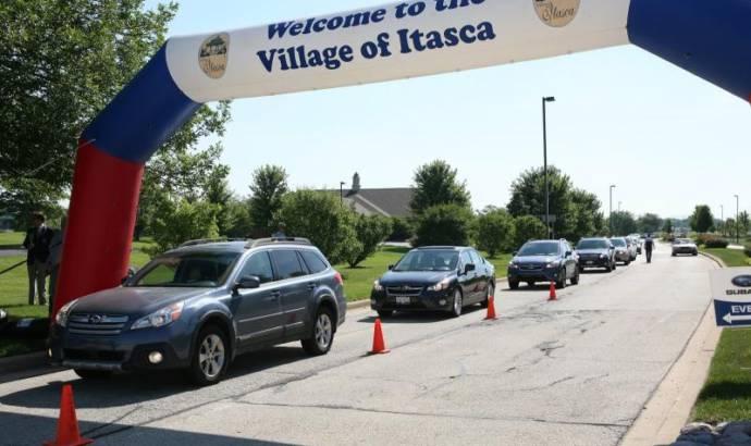 Subaru broke the record for the longest car parade