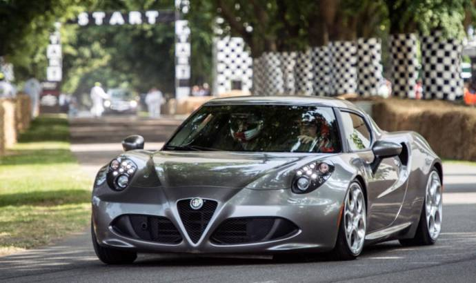 Alfa Romeo 4C makes public debut at Goodwood