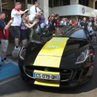 Chris Froome, Le Tour de France winner receives a special Jaguar F-Type