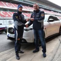 Sebastian Vettel receives an Infiniti FX on his birthday
