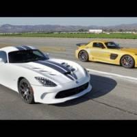 Video: SRT Viper vs Mercedes-Benz SLS AMG Black Series