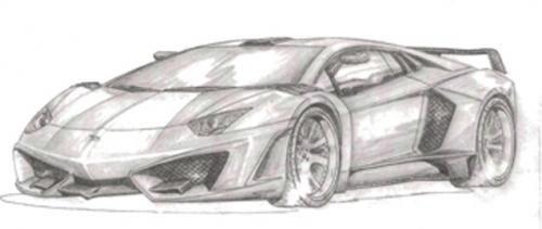 2013 FAB Design Lamborghini Aventador kit - First official sketch