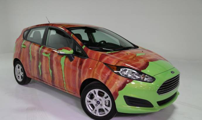 Bacon Day Ford Fiesta looks very strange