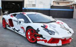 Chris Brown's customized Lamborghini Aventador