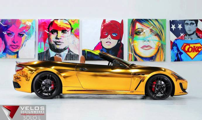 Maserati GranCabrio Gold introduced by Velos Designwerks