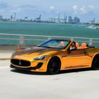 Maserati GranCabrio Gold introduced by Velos Designwerks