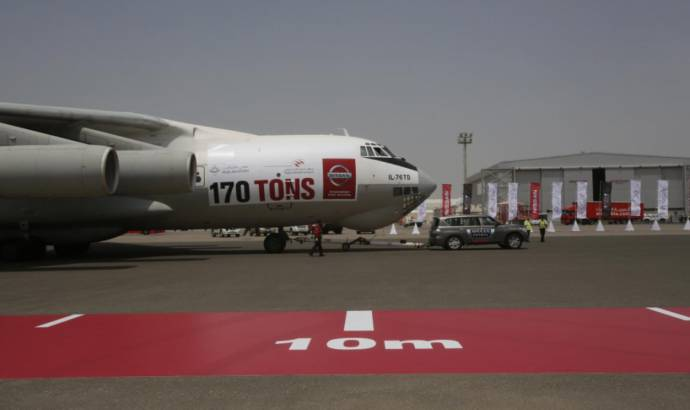NIssan Patrol sets world record for pulling a heavy plane