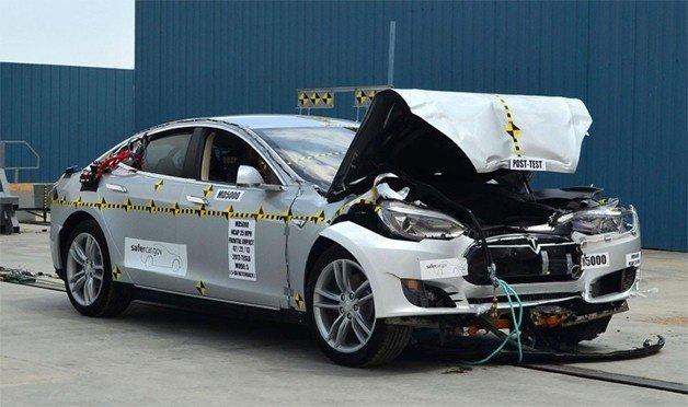 Tesla Model S ranks highest in NHTSA crash-tests