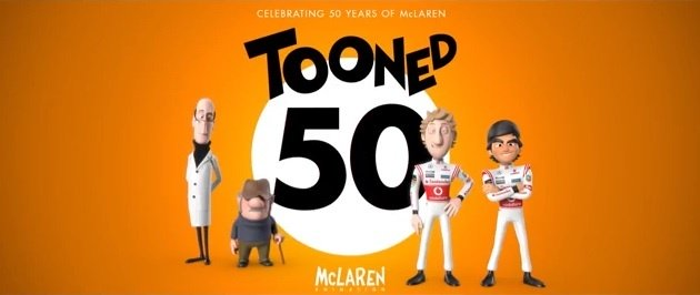3xVideo: McLaren Tooned 50 - an animated series in honor to the F1 Team's Legends