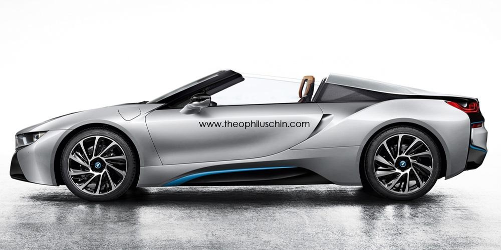 BMW i8 Spyder rendered by Theophilus Chin