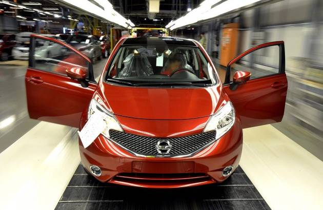 Nissan Note enters production in Sunderland plant