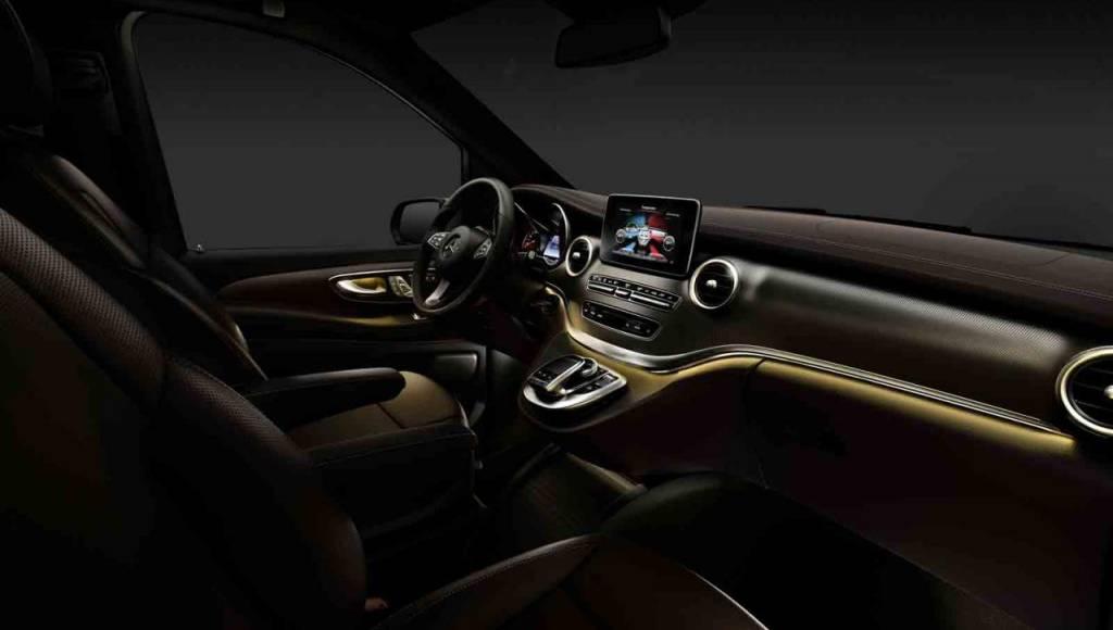 2014 Mercedes-Benz V-Class interior officially unveiled