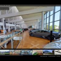 Lamborghini Museum can be visited via Google Maps