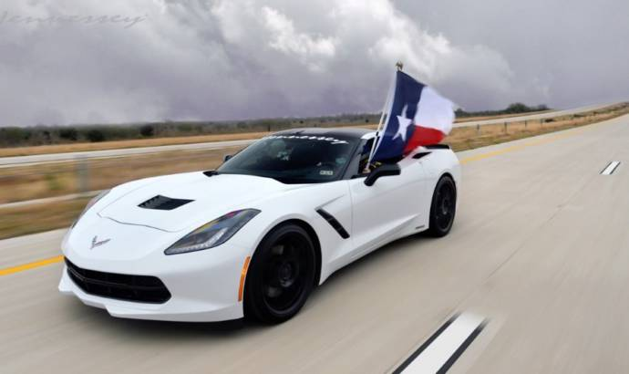 2014 Chevrolet Corvette Stingray by Hennessey hits 200 mph on Texas Highway (+Video)